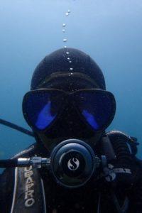 水中自撮り