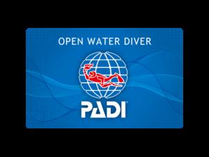 PADIオープンウォーターダイバーライセンスカード
