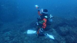 水中撮影ダイバー